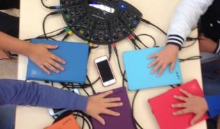 Jeder der Schüler hat jetzt sein iPad.