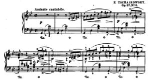 Auszug aus den Klaviernoten